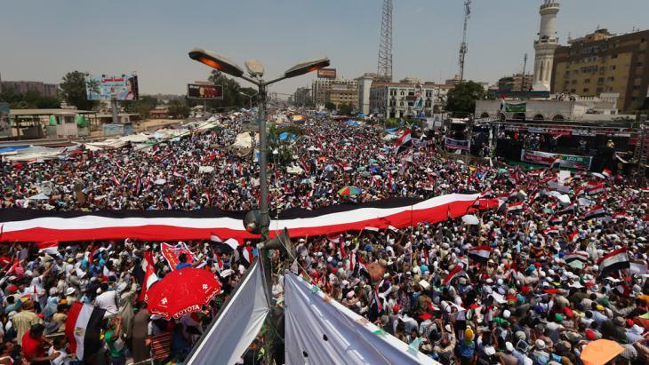 Muslimbrüder-Protestcamp Rabaa al-Adawiya in Kairo; Foto: Marwan Naamani/AFP/Getty Images