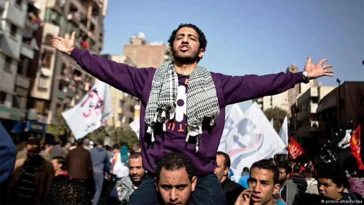 Demonstranten auf dem Tahrir-Platz in Kairo; Foto: dpa