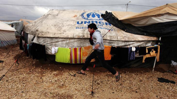 Flüchtlingscamp Zaatari in Jordanien; Foto: AP