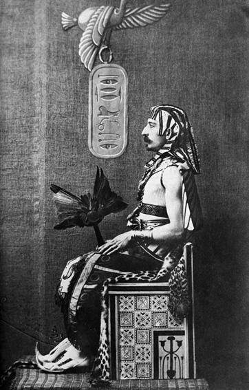 Pierre Loti als Ägypter stilisiert; Quelle: privat