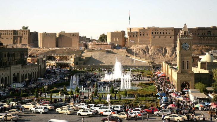Stadtansicht Erbils mit der Zitadelle und dem City Park; Foto: Safin Hamed/AFP/Getty Images