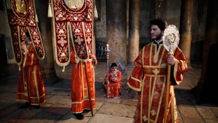 Christlich-orthodoxes Weihnachtsfest in der Westbank-Stadt Bethlehem; Foto: Reuters