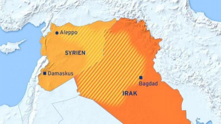 Eroberte Gebiete des Islamischen Staates in Syrien und im Irak; Quelle: DW
