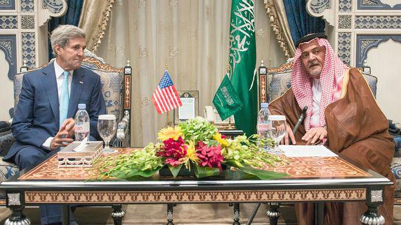 John Kerry trifft Prinz Saud al-Faisal, Außenminister in Saudi-Arabien; Foto: AFP/Getty Images