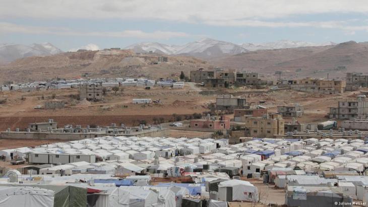 Zeltstätte in Arsal; Foto: Juliane Metzker