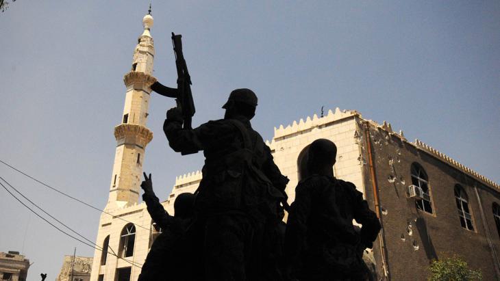 Regierungstruppen Assads im Umland von Damaskus; Foto: