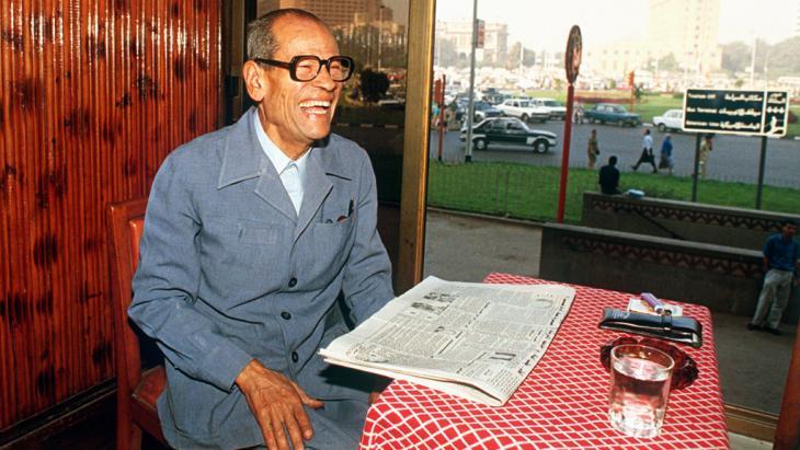 Naguib Mahfuz, Nobelpreisträger für Literatur des Jahres 1988; Foto: picture-alliance/Bildarchiv