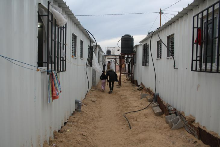 Mobile Notunterkünfte in Gaza; Foto: Ylenia Gostoli