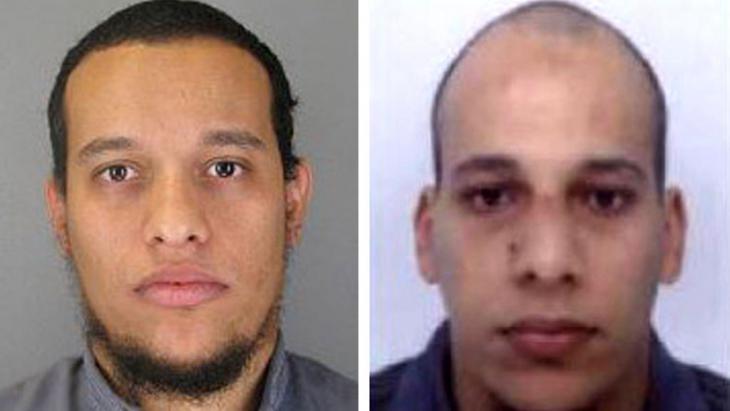 Die Attentäter des Anschlags auf Charlie Hebdo in Paris, die Brüder Said und Chérif Kouachi; Foto: Getty Images