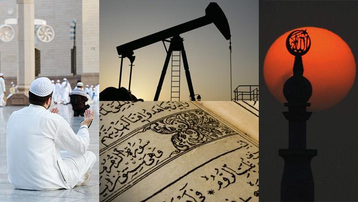 Fotocollage Wahhabismus; Quelle: picture-alliance/dpa/dpaweb/Fotolia/mysontuna/Jasmin Merdan