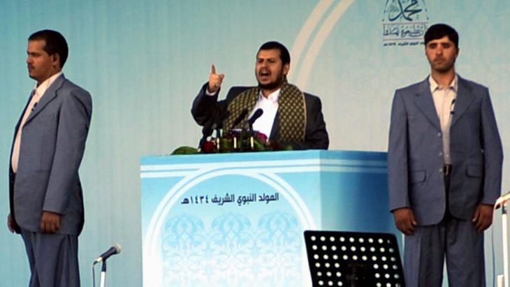 Abdel Malek El-Huthi, Anführer der schiitischen Huthi-Rebellen im Jemen; Foto: picture-alliance/Y. Arhab