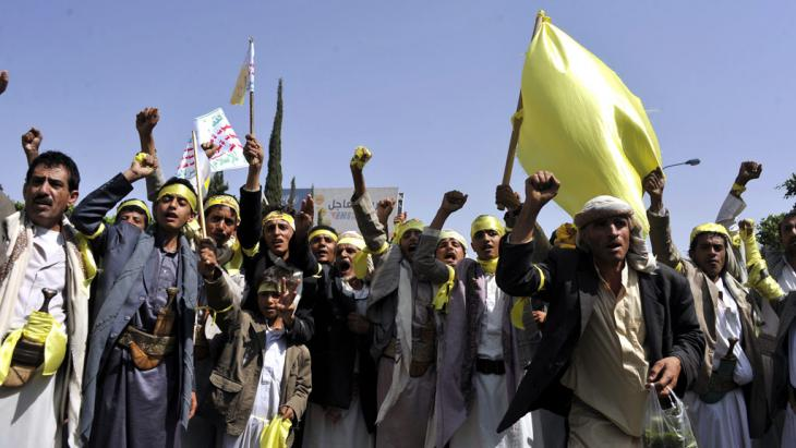 Huthi-Anhänger in Sanaa; Foto: picture-alliance/dpa