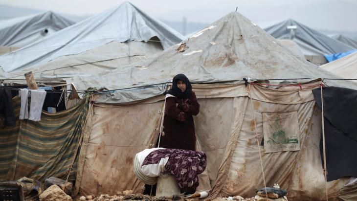 Syrische Flüchtlinge in Al-Karameh in der Nähe der syrisch-türkischen Grenze; Foto: Reuters/K. Ashawi