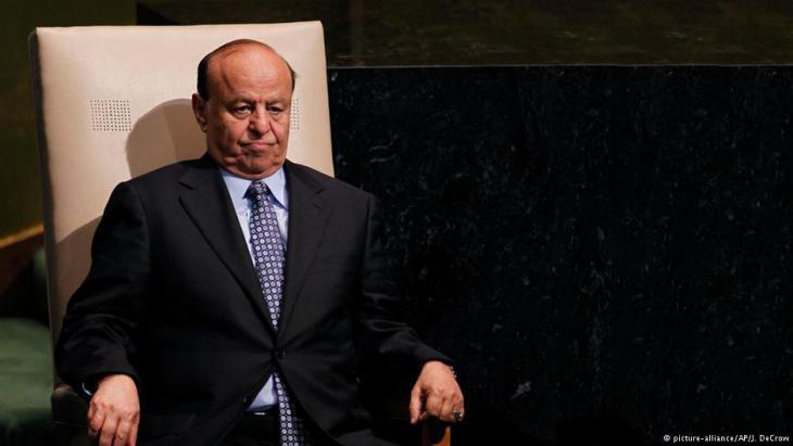 Jemens zurückgetretener Präsident Hadi; Foto: picture-alliance/AP