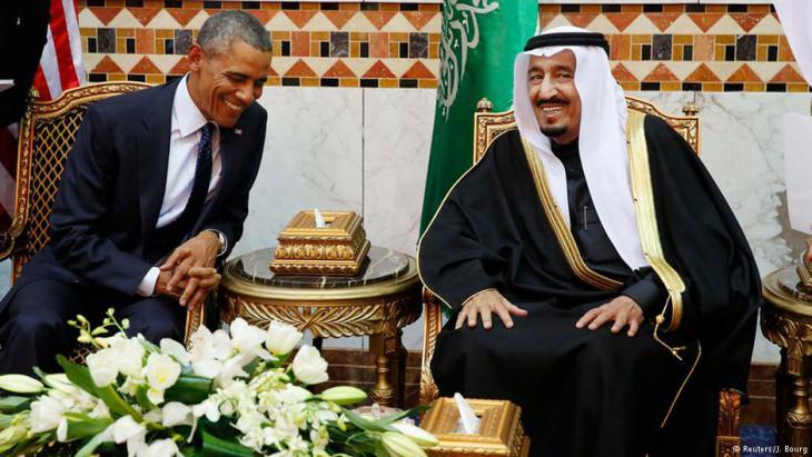 US-Präsident mit saudischem König Salman im Januar 2015; Foto: Reuters