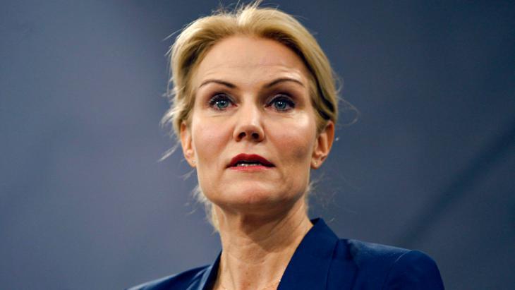Die dänische Regierungschefin Helle Thorning-Schmidt nach den Anschlägen in Kopenhagen bei einer Pressekonferenz; Foto: Reuters/S. Laessoee/Scanpix