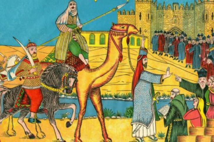 Einzug des zweiten Kalifen Omar in Jerusalem im Jahr 638 n. Chr.; Quelle: Foto: picture-alliance / maxppp/picture-alliance / ©Selva/Leemag