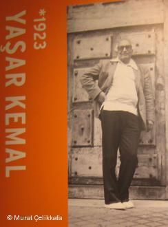 Kemal-Plakat auf der Frankfurter Buchmesse 2008; Foto: Murat Çelikkafa