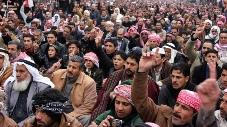 Sunniten in Falludscha; Foto: AP/picture-alliance