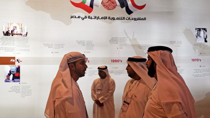 Investoren aus den Emiraten auf der internationalen Wirtschaftskonferenz EEDC in Sharm el-Sheikh; Foto: Reuters/Amr Abdallah Dalsh