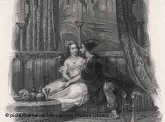 """Scheherazade und der Sultan aus """"Tausendundeine Nacht"""", Foto: picture-alliance/Mary Evans Picture Library"""