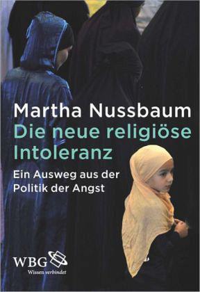 """Buchcover """"Die neue religiöse Intoleranz. Ein Ausweg aus der Politik der Angst"""" im Verlag Wissenschaftliche Buchgesellschaft"""