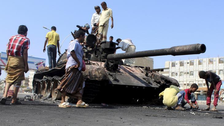 Kämpfe in der südlichen Stadt Aden im Jemen; Foto: reuters