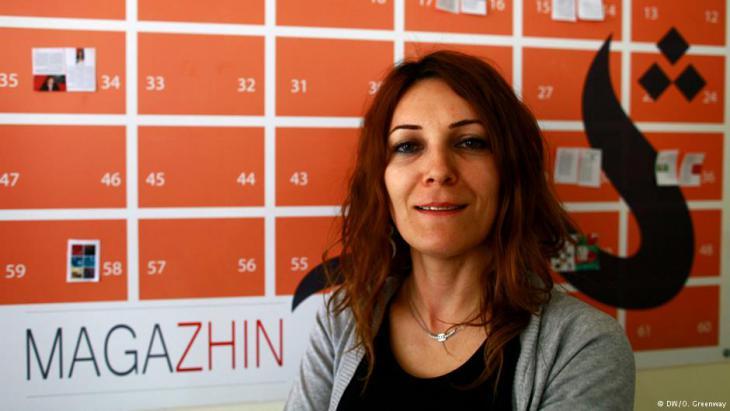 Koral Noori, Redakteurin des Magazins Zhin; Foto: DW/O. Greenway