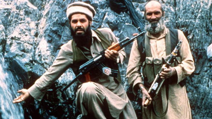 Mudschaheddin in den Bergen von Afghanistan 1985; Foto: picture-alliance/dpa