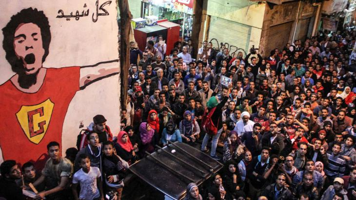 Gedenken an den während der Anti-Mubarak-Proteste 2011 getöteten Aktivisten Gaber Salah in Kairo; Foto: picture-alliance/dpa