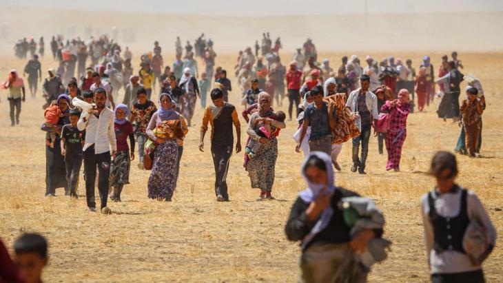 Jeziden Flüchtlinge im Irak. Foto: picture-alliance/AA/E. Yorulmaz