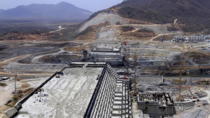 Baustelle Grand Renaissance Staudamm in der Benishangul-Gumuz-Region; Äthiopien; Foto: Reuters/T. Negeri