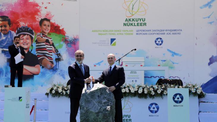 """Startschuss für erstes türkisches Atomkraftwerk """"Akkuyu""""  in Mersin; Foto: picture-alliance/dpa/Anil Bagriyanik/Anadolu Agency"""