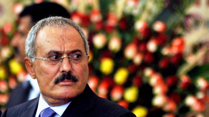 Jemens Ex-Präsident Ali Abdullah Salih; Foto: picture alliance/epa/Y. Arhab