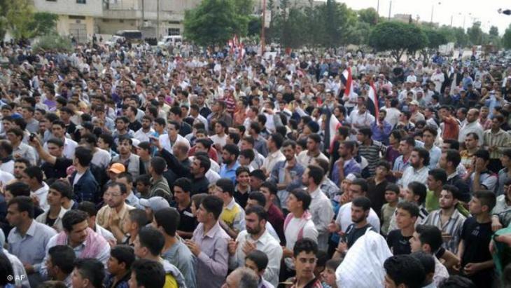 Arabischer Frühling in Homs, Syrien, im März 2011; Foto: AP
