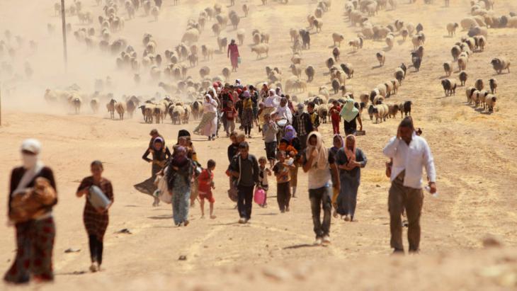Jesidische Flüchtlinge aus Sindschar; Foto: Reuters