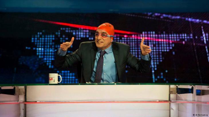 """Bassem Youssef moderiert """"AlBernameg"""". Foto: AlBernameg"""