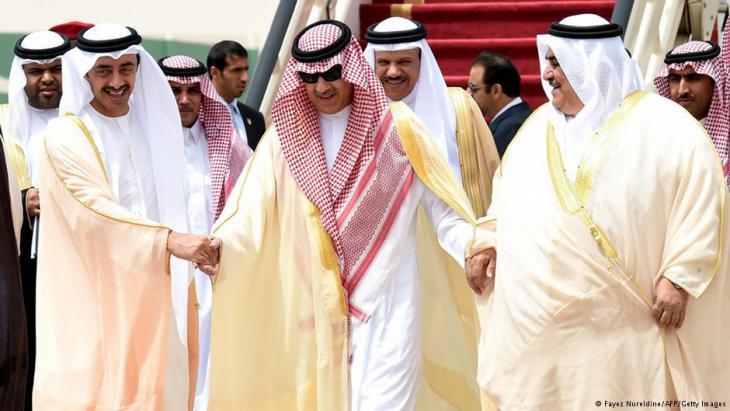 Arabische Führer und Mitglieder des Golfkooperationsrats. Foto: Fayez Nuredine/ AFP/ Getty Images