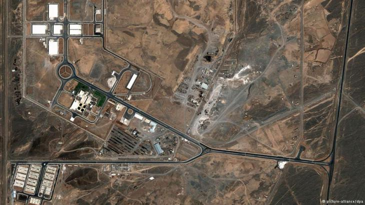 Luftaufnahme der Nuklearanlagen bei Natan. Foto: picture-alliance/ dpa