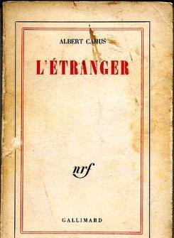 """Buchcover der französischen Ausgabe des Romans """"Der Fremde"""""""