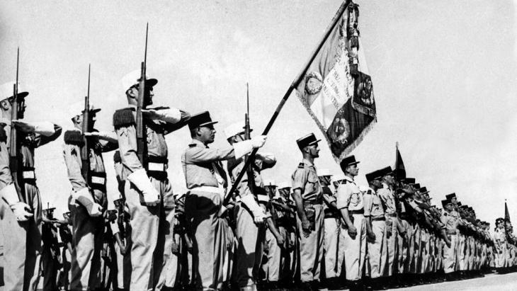 Französische Fremdenlegionäre in Algerien, Juli 1962. Foto: picture-alliance/ dpa