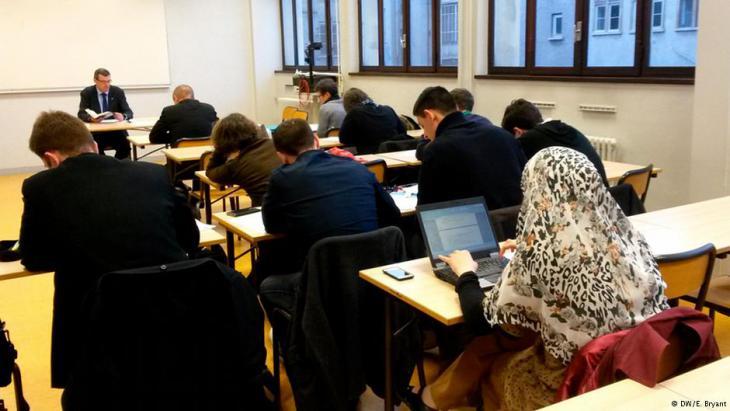 Unterricht in Säkularismus und religiöser Freiheit an der Universität in Lyon. Foto: DW/ E. Bryant