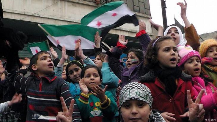 Demonstration von Kindern für die FSA in Homs im Jahr 2012; Foto: Reuters