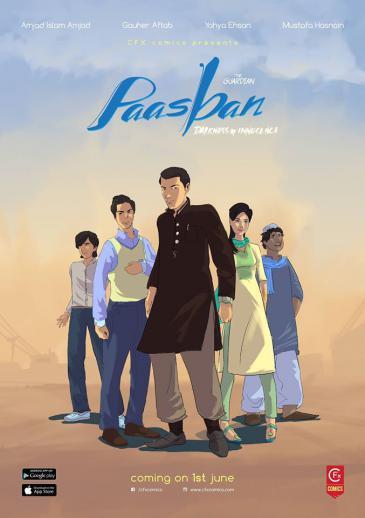 """Pakistanischer Comic """"Pasbaan""""; Foto: Creative Frontiers"""