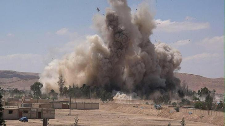 """Sprengung des Tadmor-Gefängnisses durch den """"Islamischen Staat""""; Quelle: Wilayat Media Group/Twitter"""