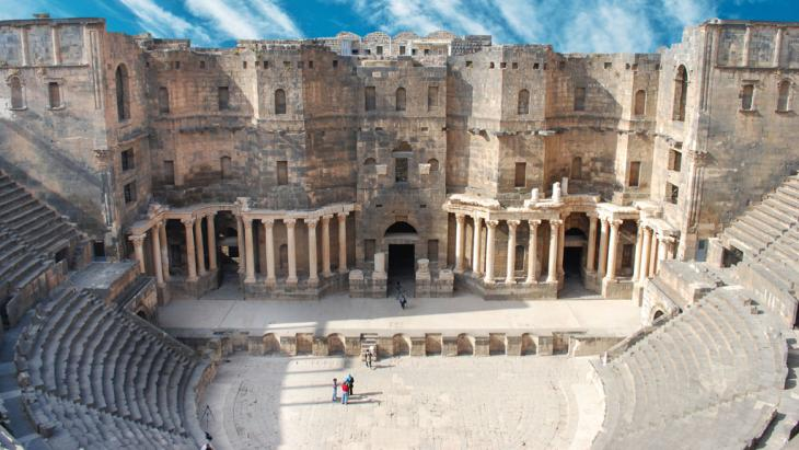 Weltkulturerbe Syrien Amphitheater Bosra; Foto:Fotolia/waj