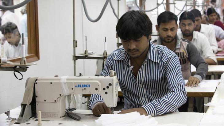 Textilfabrik in Indien. Foto: Andrew Caballero Reynolds/ AFP / Getty Images