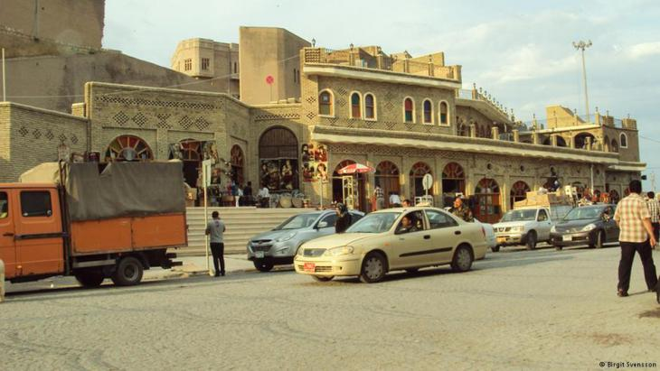 Straßenatmosphäre in Erbil. Foto: Birgit Svensson