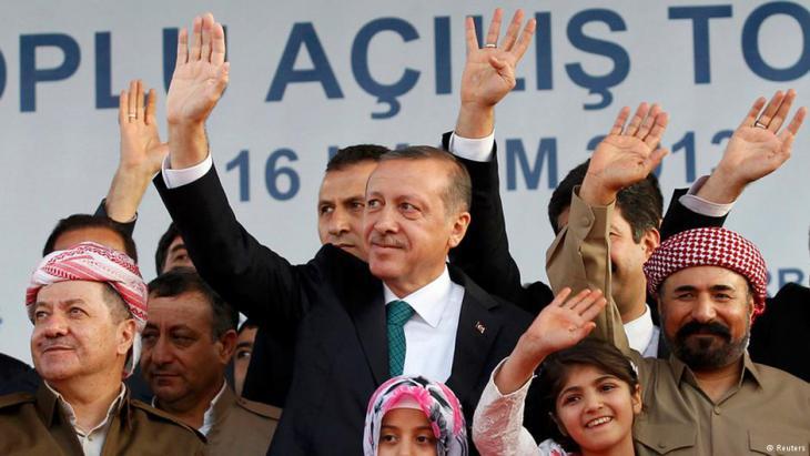 Barzani und Erdogan im Jahr 2013. Foto: Reuters