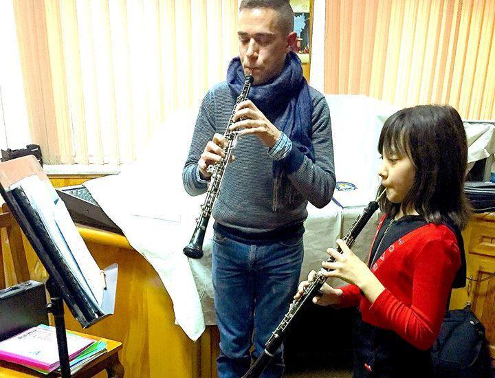 Demetrios Karamintzas' Oboe-Unterricht; Foto: Demetrios Karamintzas